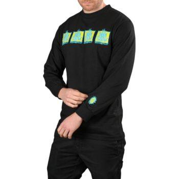 New Deal Original Napkin 4-Bar L/S T-Shirt – Black