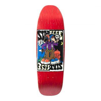 New Deal Siamese Doublekick SP 9.625″ Reissue Skateboard Deck – Red