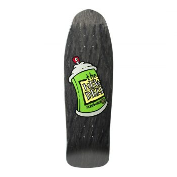 New Deal Spray Can SP 9.75″ Reissue Skateboard Deck – Black