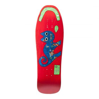 New Deal Templeton Cat SP 9.75″ Reissue Skateboard Deck – Red