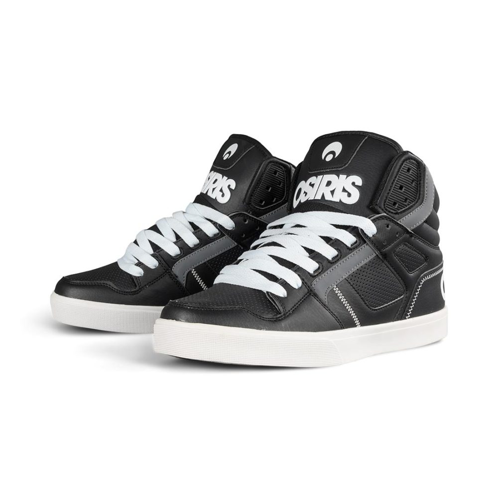 Osiris Clone High Top Shoes – Black / White