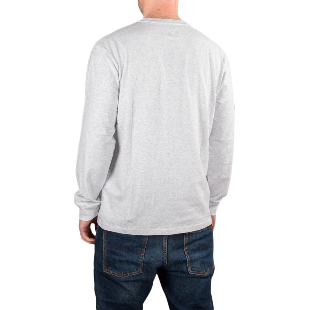 RIPNDIP EMB Logo L/S T-Shirt - Heather Grey