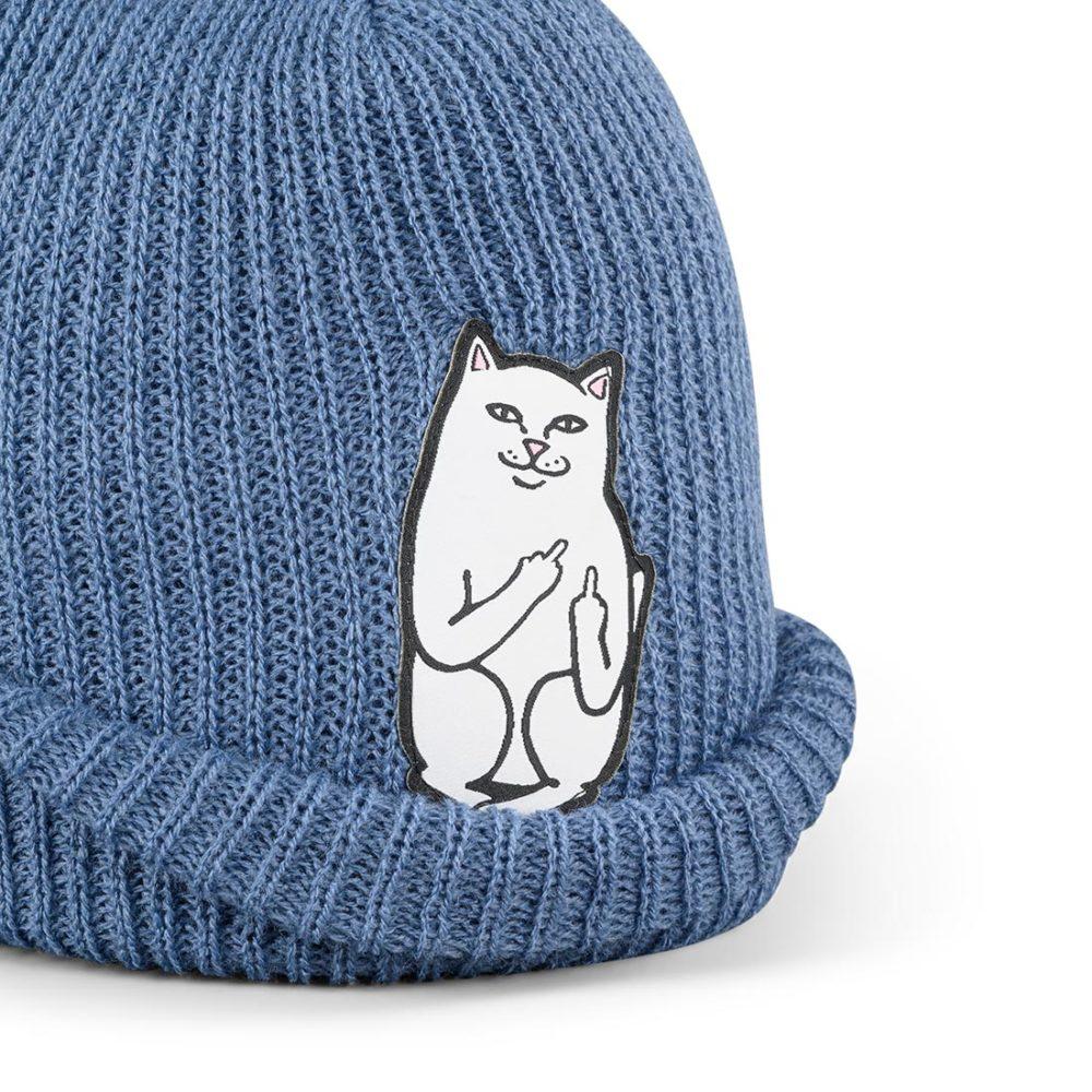 RIPNDIP Lord Nermal Rib Beanie Hat – Blue