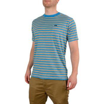 RVCA Vincent Stripe Crew S/S T-Shirt - Blue Cruz