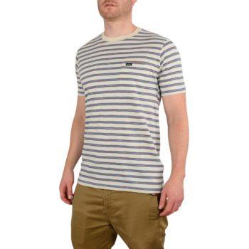 RVCA Vincent Stripe Crew S/S T-Shirt - Silver Bleach