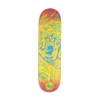 Santa Cruz Flash Hand VX 8.25″ Skateboard Deck – Multi