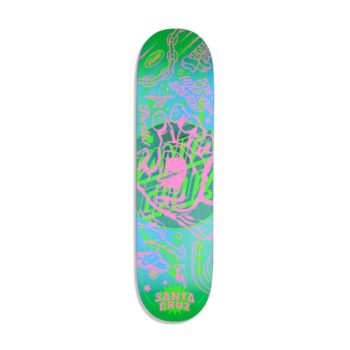 "Santa Cruz Flash Hand VX 8"" Skateboard Deck - Multi"