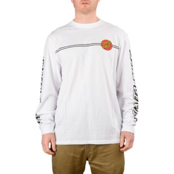Santa Cruz OG Classic Dot L/S T-Shirt – White
