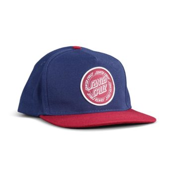 Santa Cruz Ring Dot Snapback Cap - Indigo / Burgundy