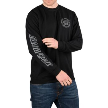 Santa Cruz Ringed Dot Crew Sweater – Black
