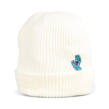 Santa Cruz Screaming Mini Hand Beanie Hat - White