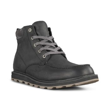 Sorel Madson Moc Toe Waterproof Boot – Black / Dark Grey