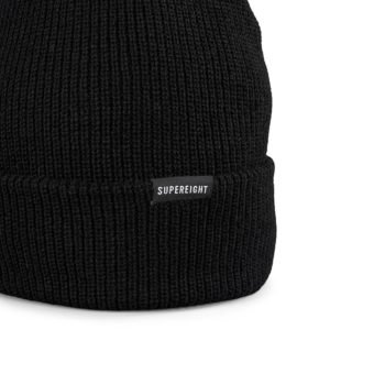 Supereight Supply Co Horizontal Beanie Hat - Black