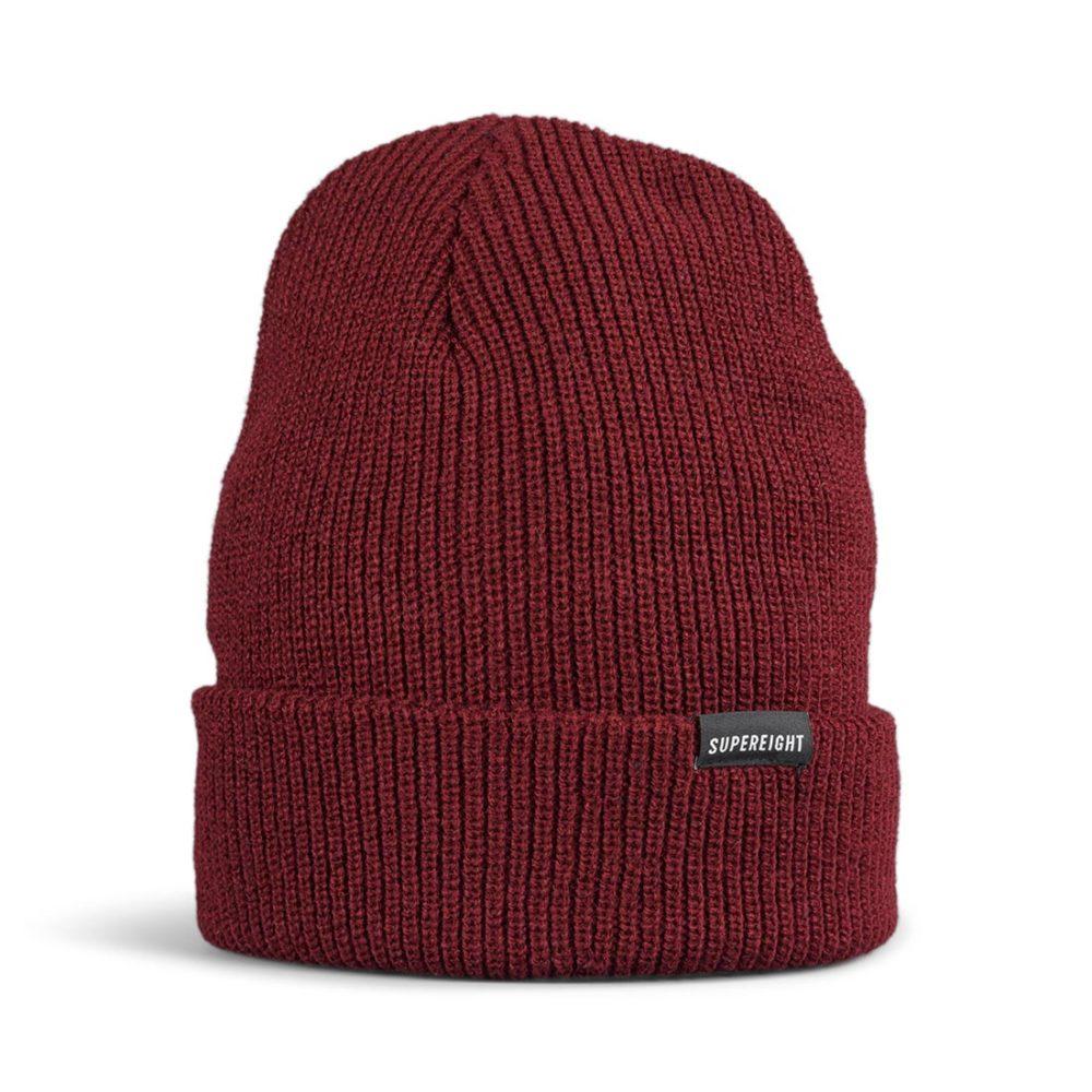 Supereight Supply Co Horizontal Beanie Hat - Burgundy