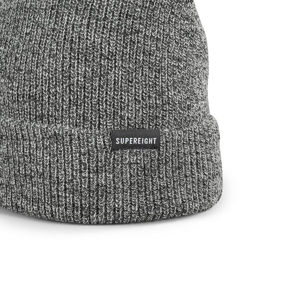 Supereight Supply Co Horizontal Beanie Hat - Charcoal Heather