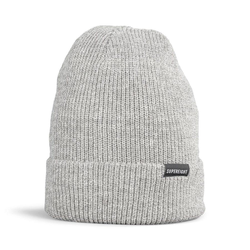 Supereight Supply Co Horizontal Beanie Hat - Grey Heather