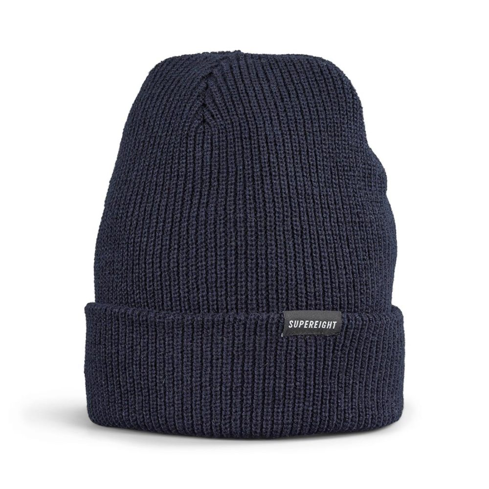 Supereight Supply Co Horizontal Beanie Hat - Navy
