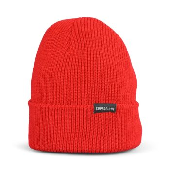Supereight Supply Co Horizontal Beanie Hat - Red