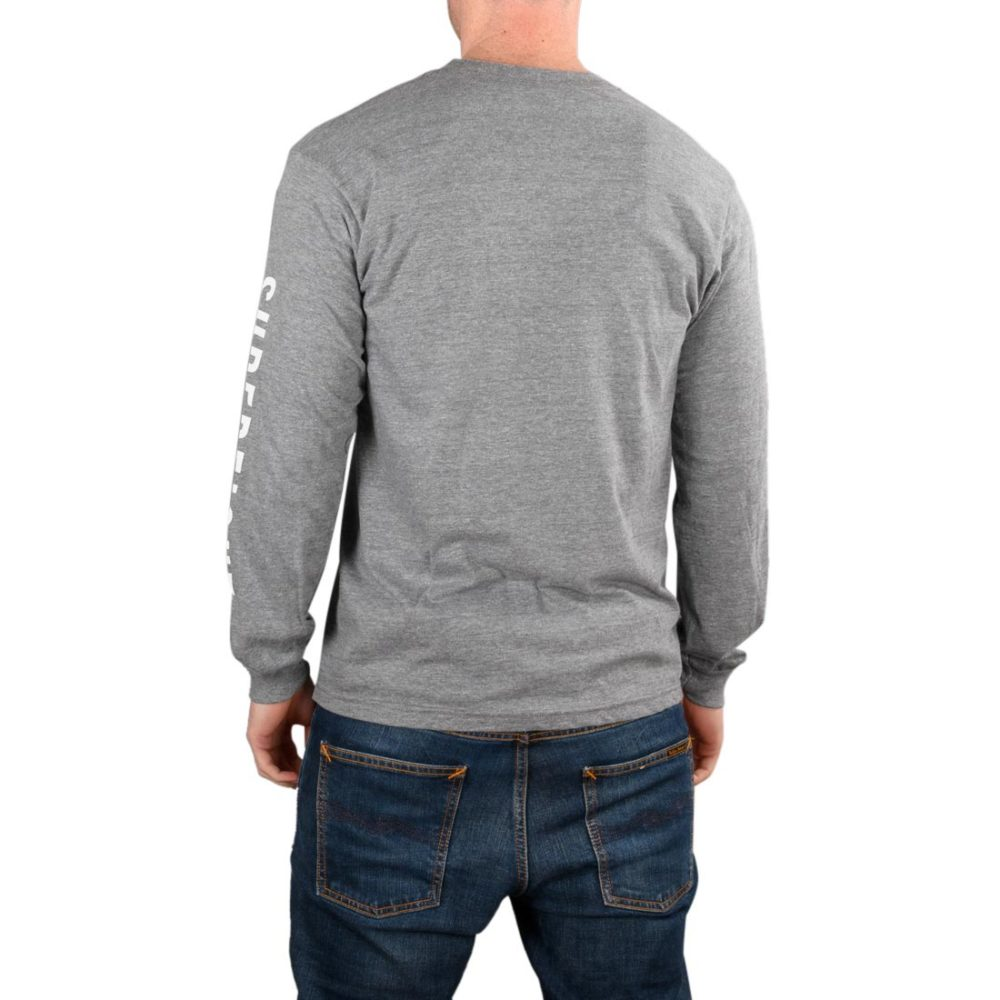 Supereight Supply Co Icon L/S T-Shirt - Graphite Heather
