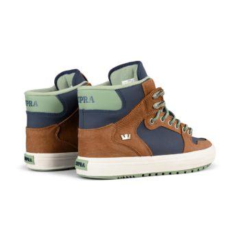 Supra Vaider CW Shoes – Navy / Brown / Bone