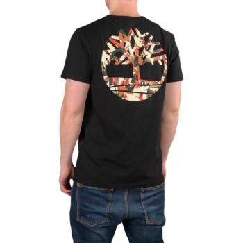 Timberland Camo Logo S/S T-Shirt – Black