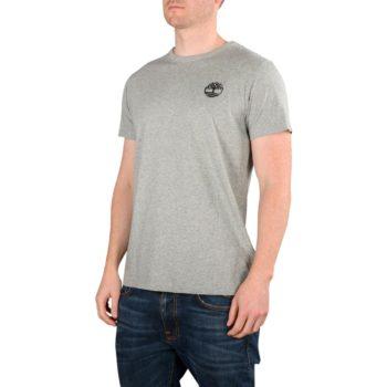 Timberland Camo Logo S/S T-Shirt – Grey Heather