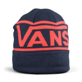 Vans Drop V Stripe Cuff Beanie Hat – Dress Blue