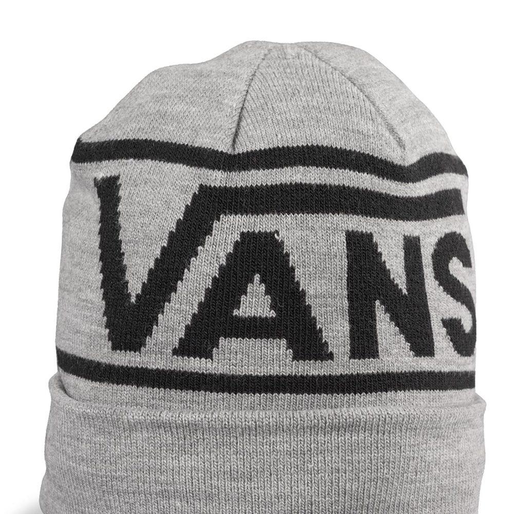 Vans Drop V Stripe Cuff Beanie Hat – Heather Grey