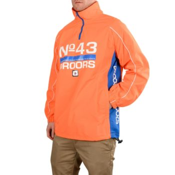 Droors Ocelot Tracksuit Jacket – Blazing Orange