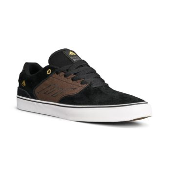 Emerica Reynolds Low Vulc Shoes - Black / Brown / Grey