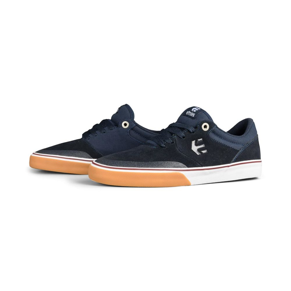 Etnies Marana Vulc Shoes – Navy / Tan / White