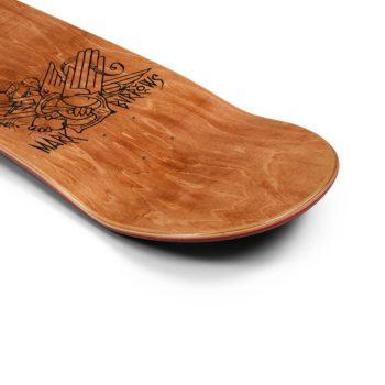 Forty Mark Burrows x Cubic Skateboard Deck - Black