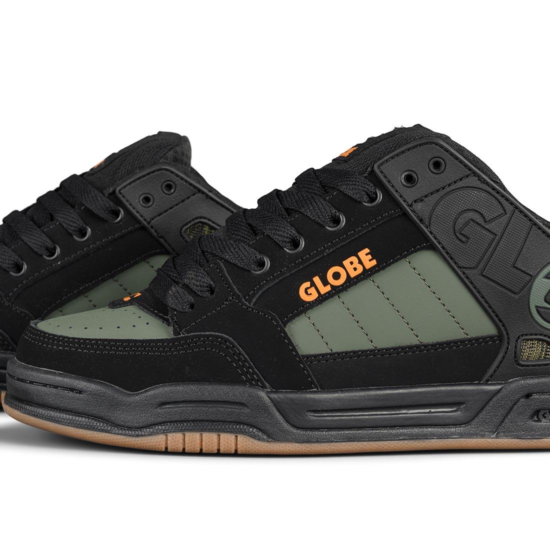 Globe Tilt Shoes - Black / Olive Knit