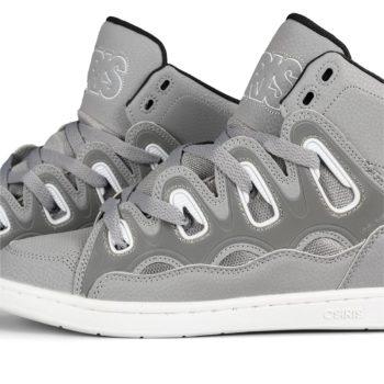 Osiris D3H High Tops Shoes – Grey / Black / White