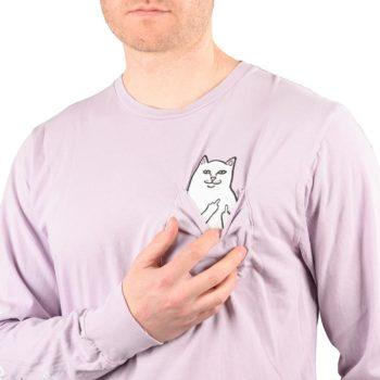 RIPNDIP Lord Nermal L/S Pocket T-Shirt – Light Purple