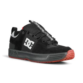 DC Shoes Lynx OG – Black / Dark Grey / Athletic Red
