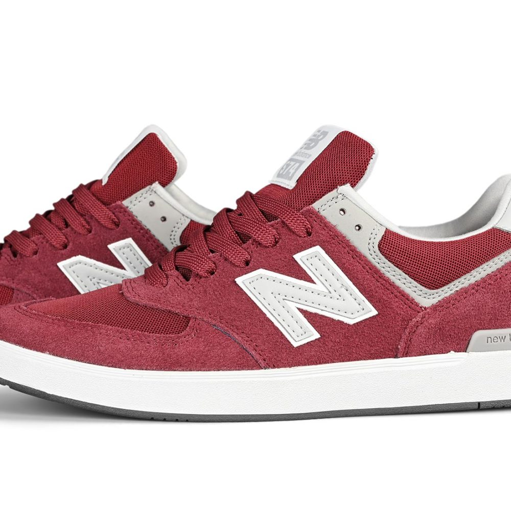 New Balance All Coasts 574 Shoes – Burgundy / Grey