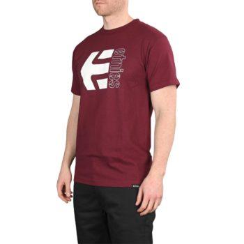 Etnies Corp Combo S/S T-Shirt – Burgundy