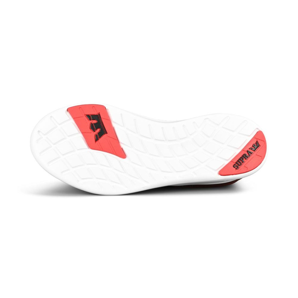 Supra Factor Shoes – Black / Risk Red / White