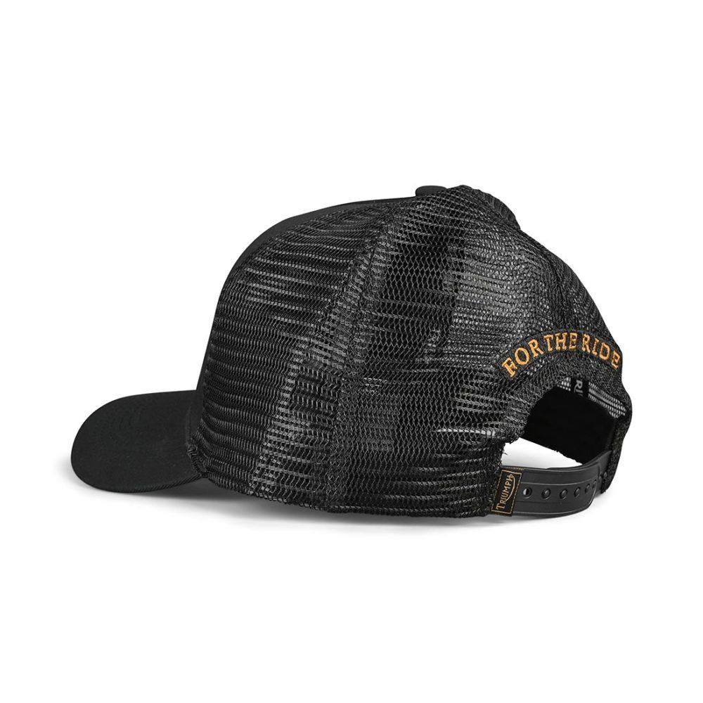 Triumph Kerosene Trucker Hat – Black / Gold