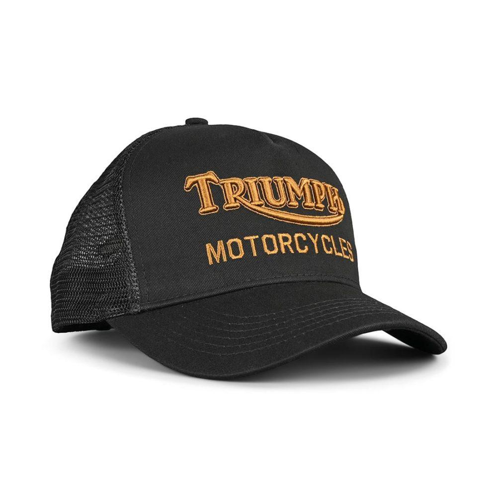 Triumph Oil Trucker Hat - Black / Gold