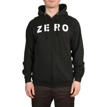 Zero Army Zip-Up Hoodie - Black