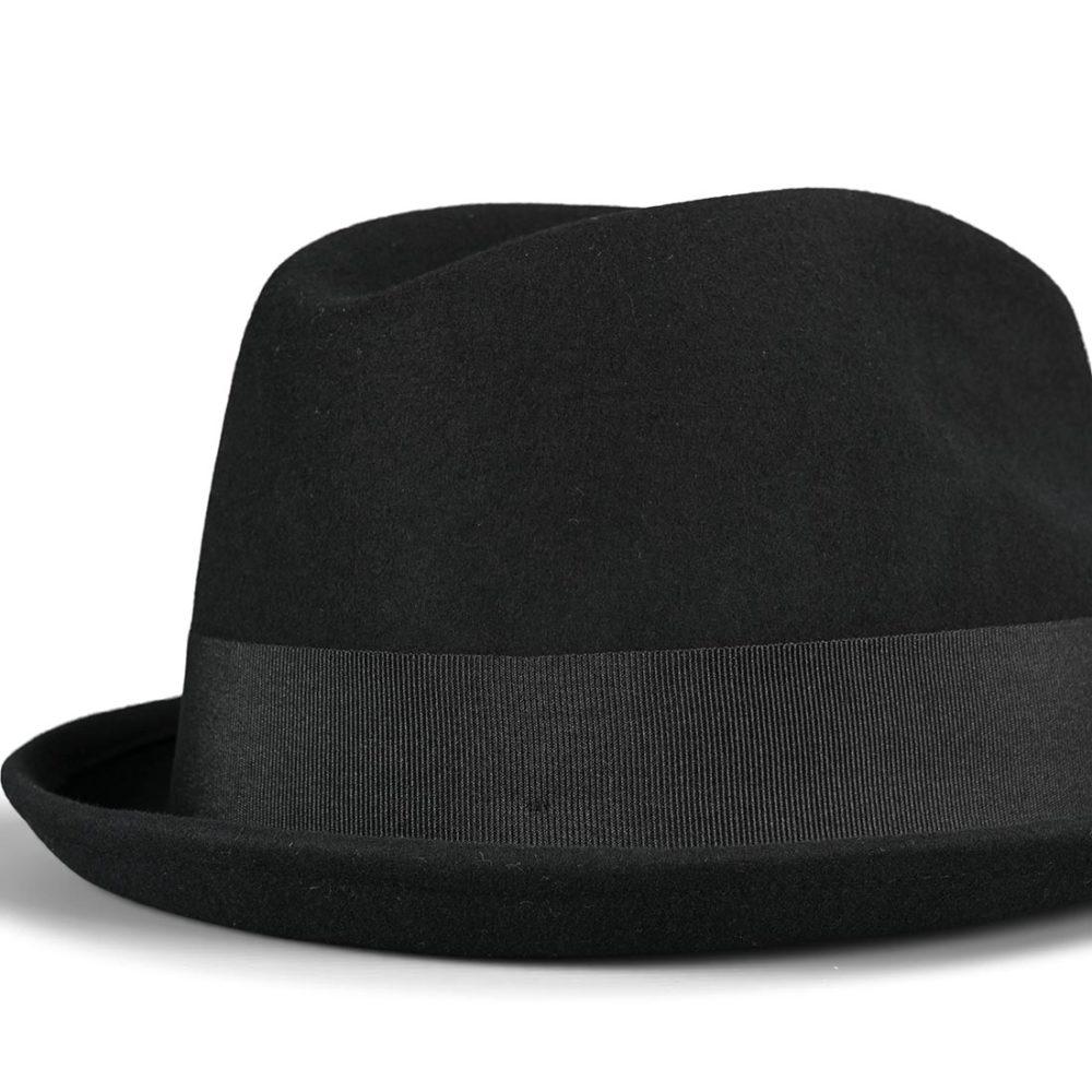 Brixton Gain Fedora Cap - Black