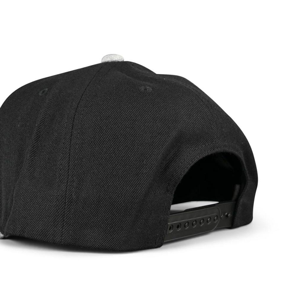 Brixton Oath III Snapback Hat - Black / Heather Grey