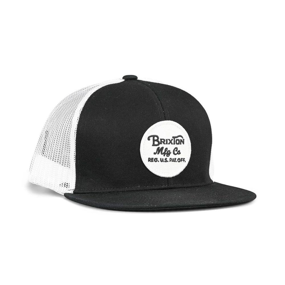 Brixton Wheeler Mesh Back Trucker Cap - Black / White