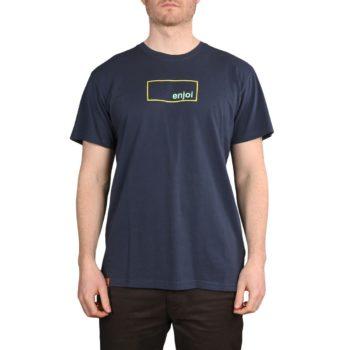 Enjoi Skateboards Box Logo 2 S/S T-Shirt - Midnight Navy