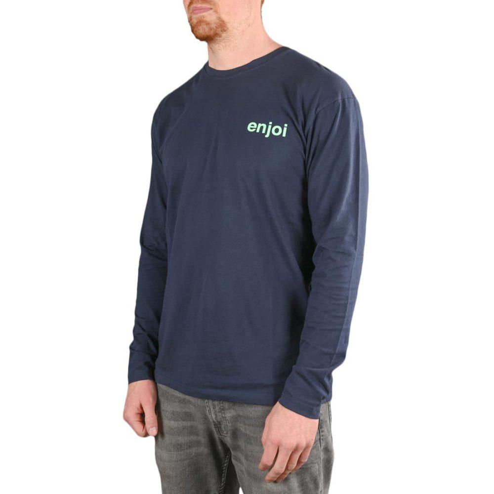 Enjoi Skateboards Premium Panda L/S T-Shirt - Midnight Navy