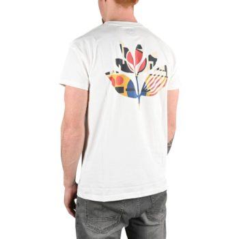Magenta Shapes Plant S/S T-Shirt - White
