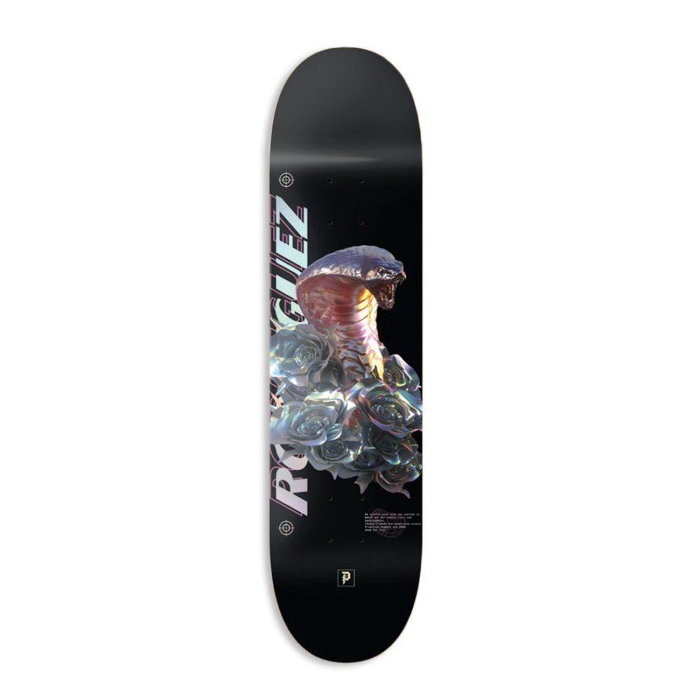 """Primitive Rodriguez Warning 8.125"""" Skateboard Deck - Black"""