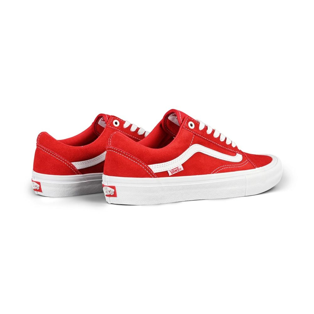 Vans Old Skool Pro Shoes - Red / White